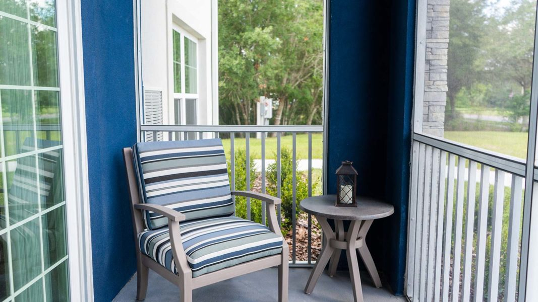 Assisted Living Apartment Screened Patio Balcony