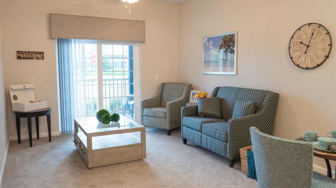 Assisted Living Apartment Spacious Living Room