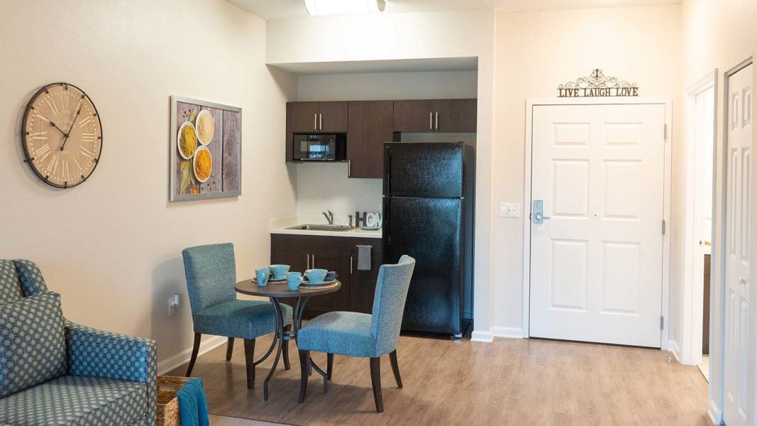 Assisted Living Apartment With Kitchen And Dining Area